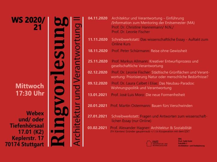 Plakat Ringvorlesung WS 20_21